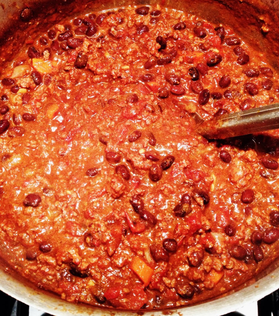 Beefy Chili with Cinnamon and Chocolate