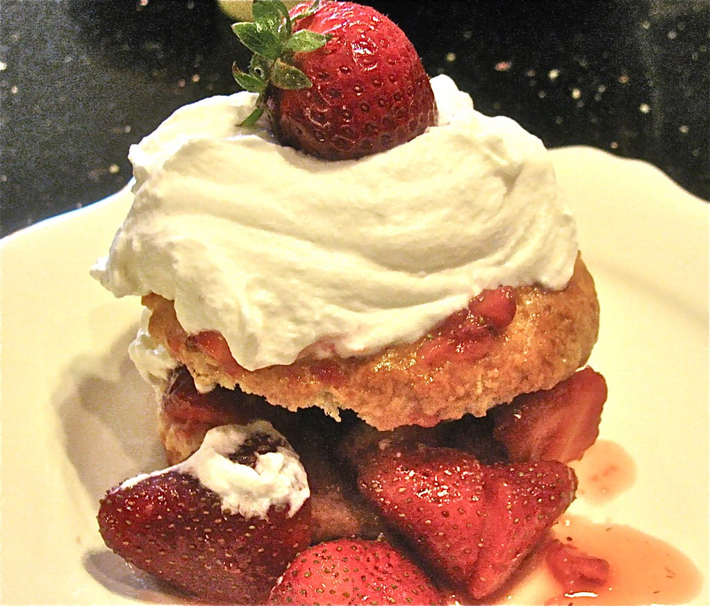 Strawberry Shortcakes with Scones