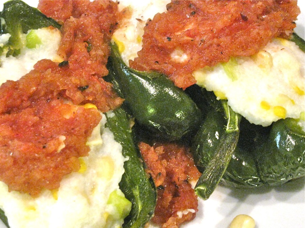 Polenta Stuffed Poblano PeppersPolenta Stuffed Poblano Peppers