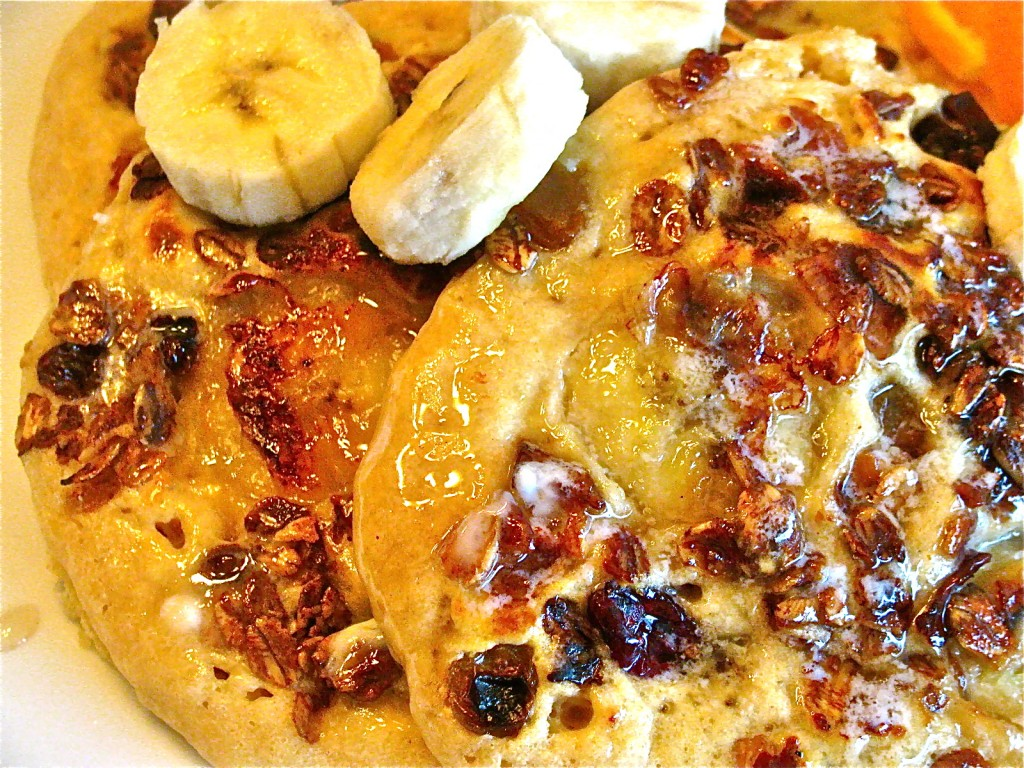 Banana Crunch Pancakes