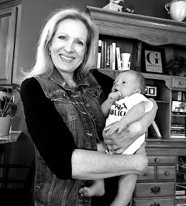Me with two week old Isaac James!