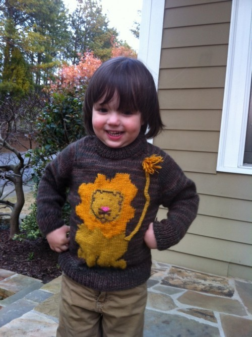 Eli in his lion sweater