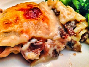 Mushroom Lasagna-Easy, Rich and Decadent!