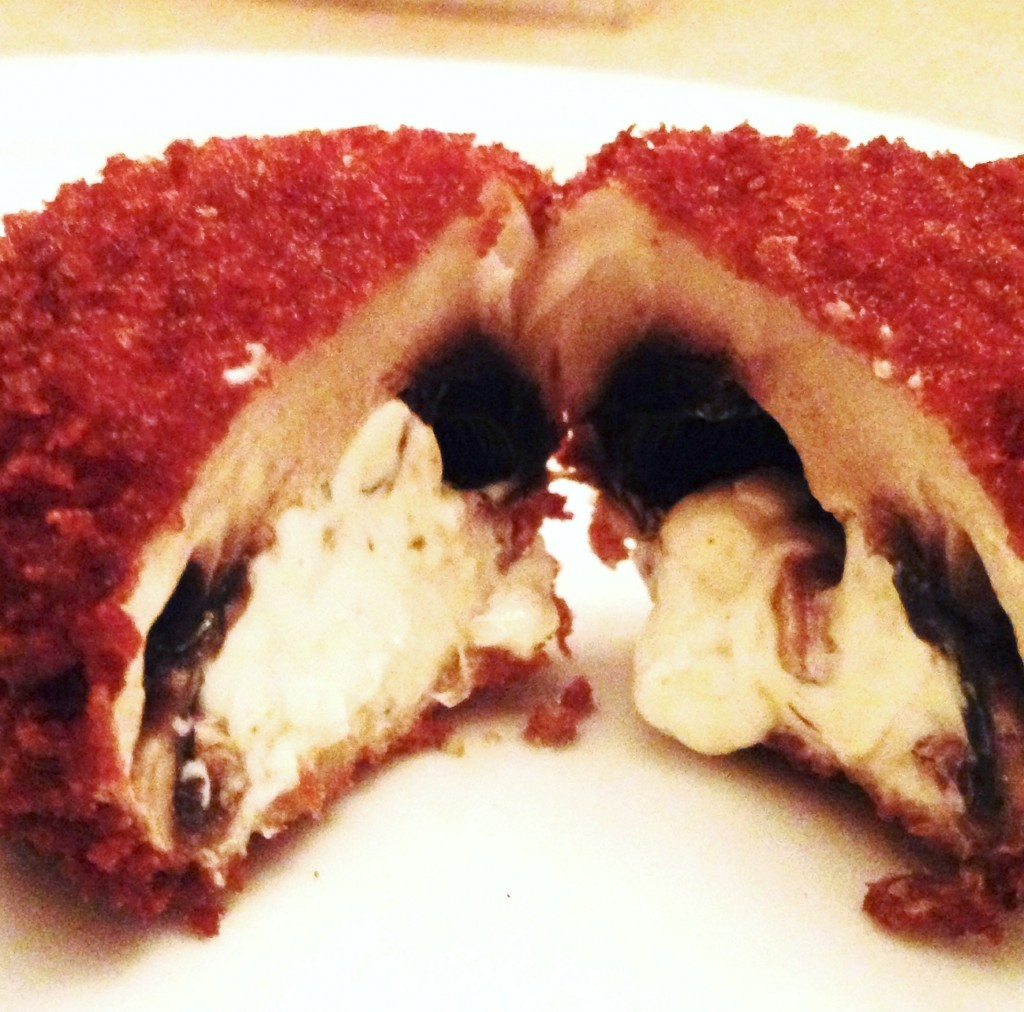 Deep Fried Stuffed Mushrooms