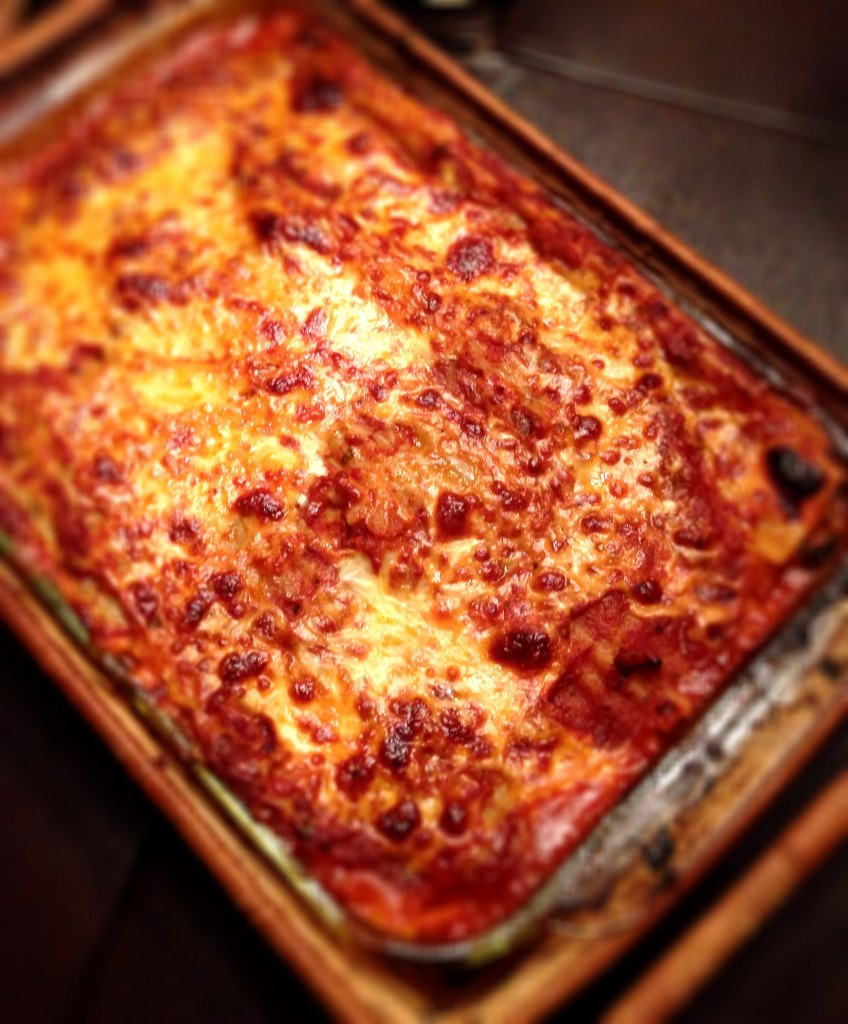 Lasagna with Meatballs, Spinach and Béchamel Sauce