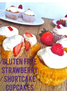 Gluten-Free Strawberry Shortcake Cupcakes