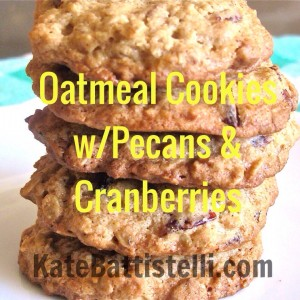 Oatmeal Cookies with Pecans and Cranberries
