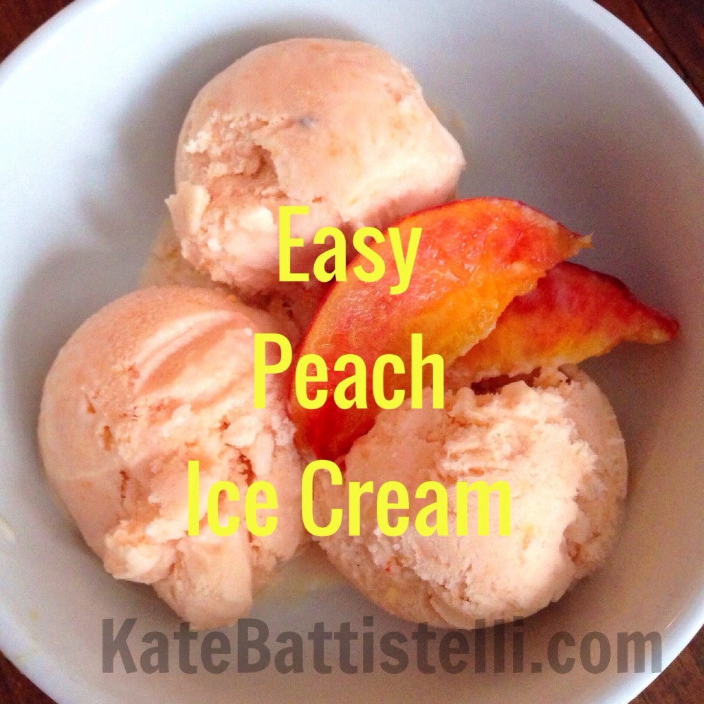 Easy Peach Ice Cream