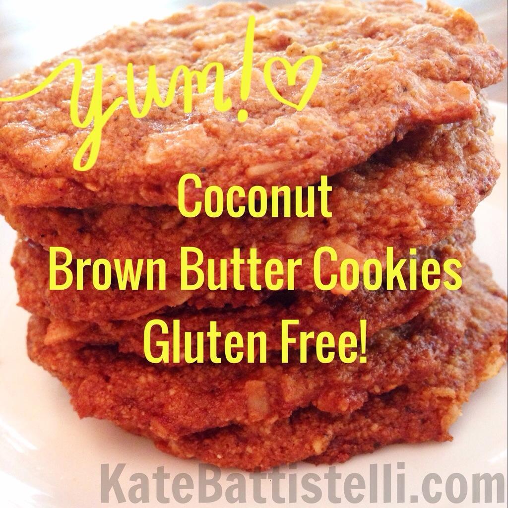 Coconut Brown Butter Cookies–Gluten Free