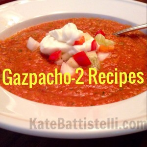 Gazpacho, 2 Recipes, One Red & One White!