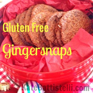 Gluten Free Gingersnaps-Crisp and Spicy