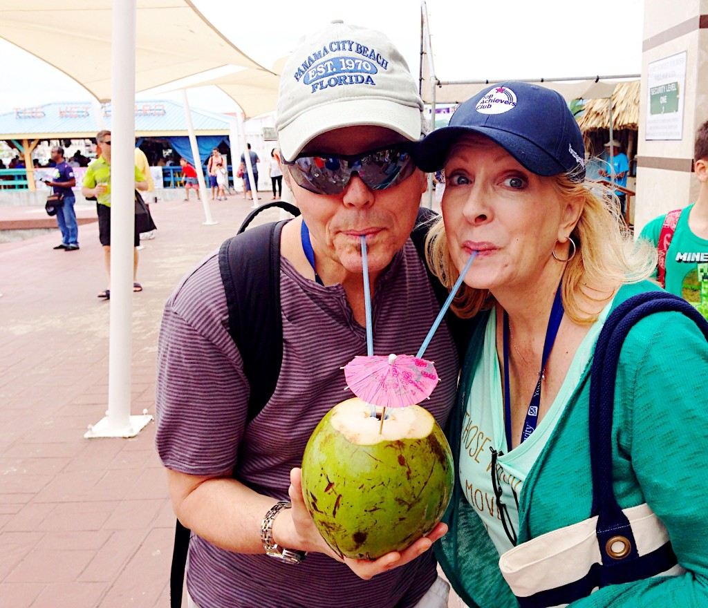 Mike and I sharing a fun drink at the port.
