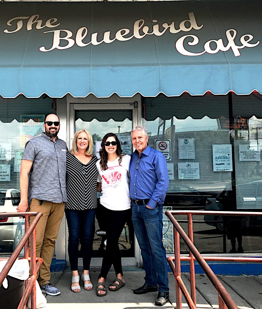 Kate, Mike and Francesca Battistelli at the Bluebird Cafe