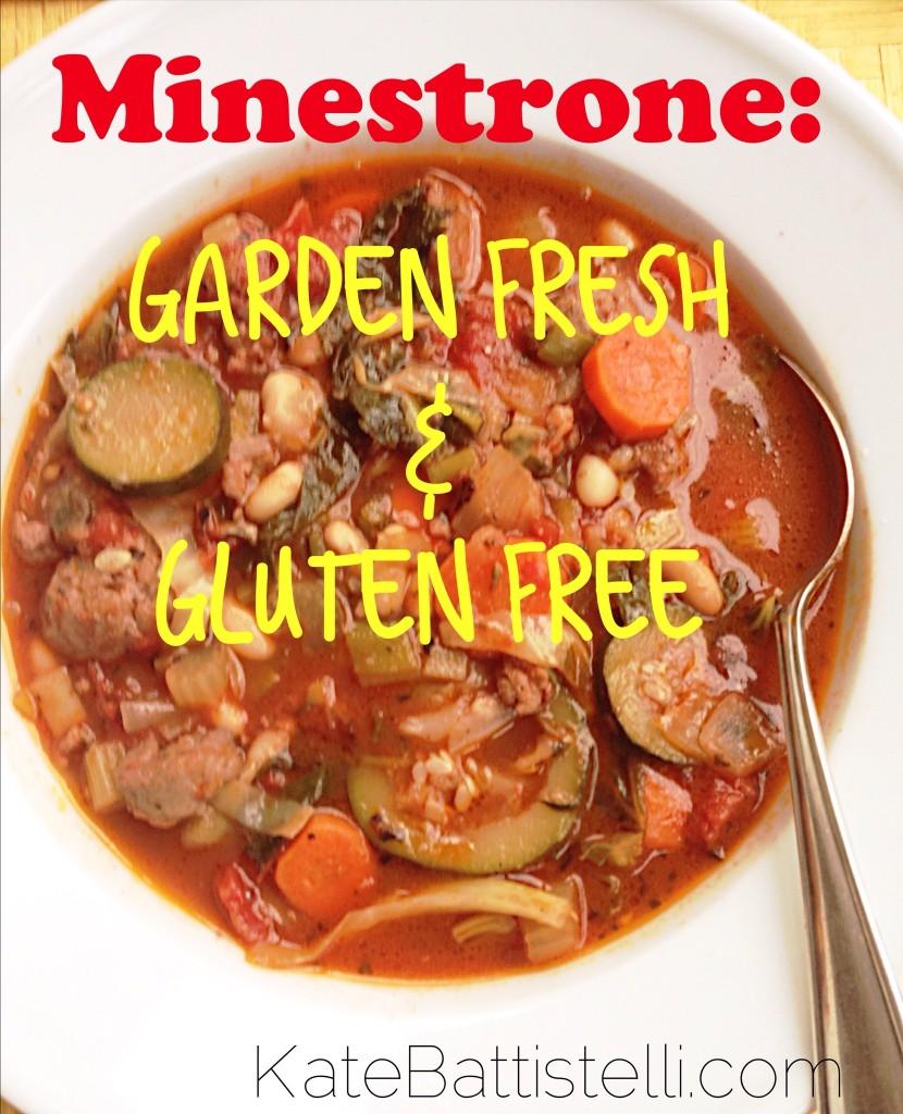 Minestrone Soup - Garden Fresh &  Gluten Free!