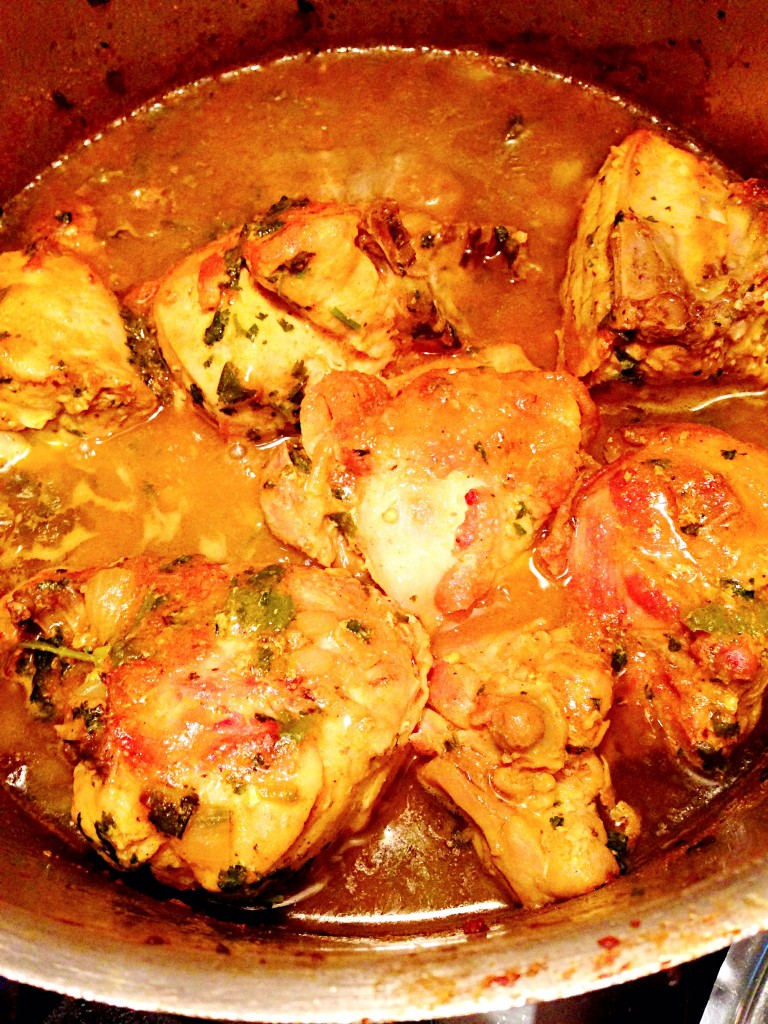 Curry Chicken Belize Style