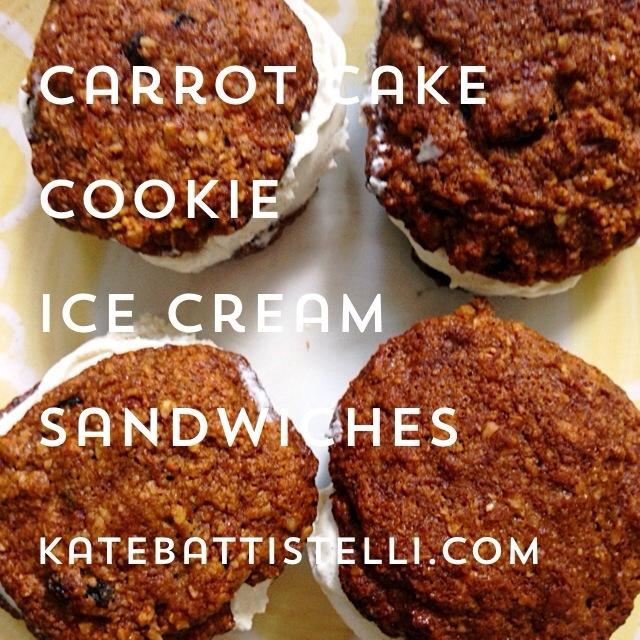 Carrot Cake Cookie Ice Cream Sandwiches