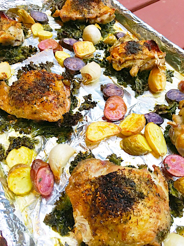 Easy Crispy Chicken Sheet Pan Supper