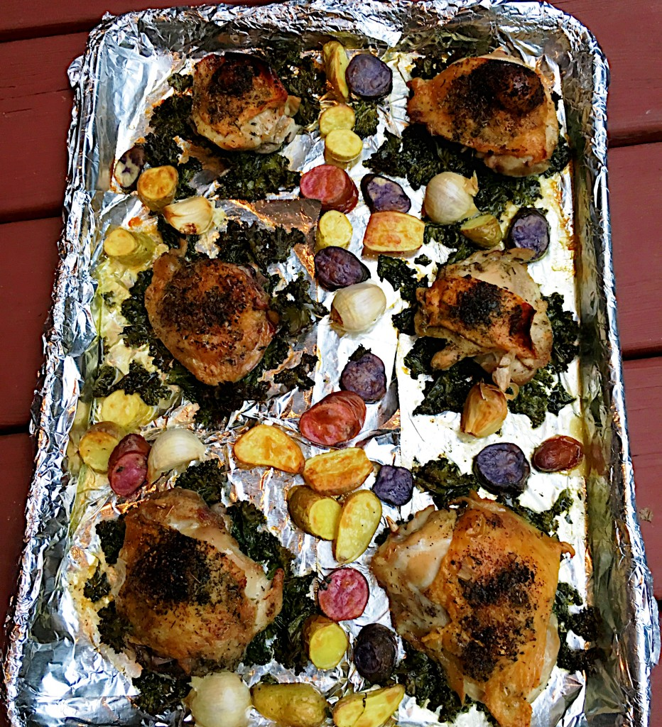 Easy Crispy Chicken Sheet Pan Supper